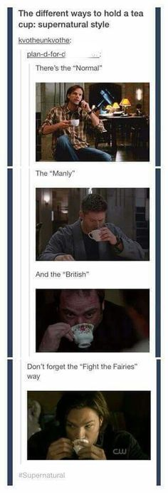 Ways to hold a teacup by Supernatural