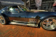 c3 Chevrolet corvette with some mean side pipes!