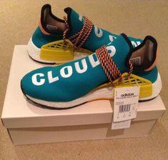 6068b343e Pharrell Williams X Adidas Nmd Hu Trail Sun Glow Shoes UK9 US 9.5