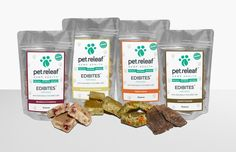 Pet Releaf Edibites for dogs are infused with Organic CBD Hemp Oil and are made from whole food organic ingredients. All human grade, even you could snack on them! Your pup needs this super food!
