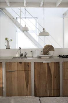 #white + wood modern kitchen