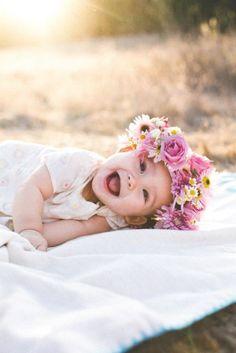 wild flower royalty, baby flower crown