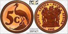 Find many great new & used options and get the best deals for 1993 SOUTH AFRICA 5 CENTS PCGS PR67RDDCAM GRADED & TONED POP 2 NONE HIGHER! at the best online prices at eBay! Free shipping for many products! Coins Worth Money, Coin Worth, Coin Values, 5 Cents, Old Coins, Coin Collecting, Red And Pink, Are You The One, South Africa