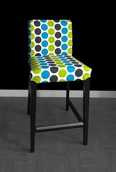 SALE IKEA HENRIKSDAL Bar Stool Chair Cover Fancy Dot Wild by RockinCushions