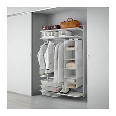 IKEA - ALGOT, Riel susp/baldas/barra, Puedes combinar los elementos de la serie ALGOT de muchas maneras distintas según tus necesidades y el espacio de que dispongas.No necesitas ninguna herramienta: encaja los soportes en los postes de pared para colgar un estante o accesorio.También se puede utilizar en baños y otras zonas con humedad del interior.