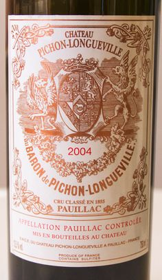 2004 Chateau Pichon-Longueville Baron Pauillac