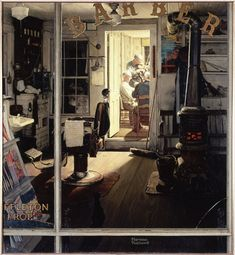 norman rockwell: great use of light in this one
