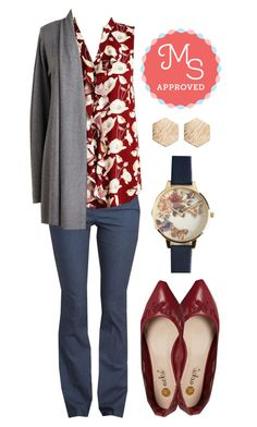 """Biennial Bliss Top"" by modcloth ❤ liked on Polyvore featuring Olivia Burton, women's clothing, women's fashion, women, female, woman, misses and juniors"