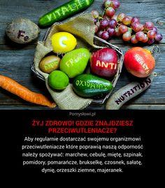 Aby regularnie dostarczać swojemu organizmowi przeciwutleniacze które poprawią naszą odporność należy spożywać: marchew, cebulę, miętę, szpinak, pomidory, pomarańcze, brukselkę, czosnek, ...