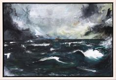 Wave 2013 | 76 x 56 x 1.5cm Acrylic on canvas Signed COMMISSION