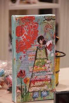 Christi Tomlinson's new SHE ART line is fabulous !  I love this canvas she made with it :)
