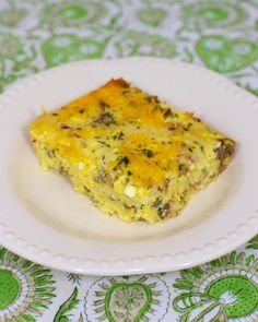 Cheesy Amish Breakfast Casserole #glutenfree