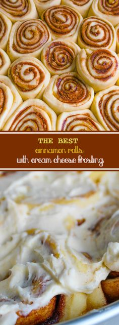 THE BEST soft and delicious Cinnamon Rolls topped with decadent Cream Cheese Frosting!