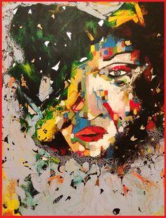 Mixed Media on Canvas by Hesham Malik.