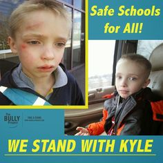 """Kyle from Methuen, MA was pushed down on his school playground by bullies on Tuesday. For weeks, Kyle's dad Charlie had been trying to get the school to do something about the ongoing bullying. Frustrated and very upset after seeing his 8-year-old hurt, Charlie snapped this picture, and posted it on social media. The school district said the photos were unacceptable, and asked for Charlie to take them down. To this, Charlie replied """"What's unacceptable is that it came to this point that my…"""