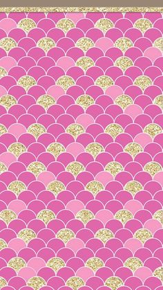 PINK AND GOLD SCALLOP IPHONE WALLPAPER BACKGROUND