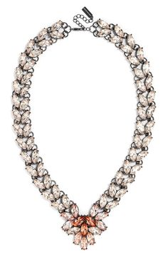 Crushing on this pink crystal ombré necklace.