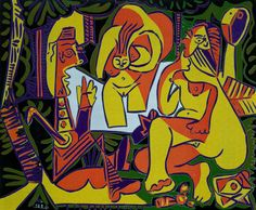 Available for sale from Long-Sharp Gallery, Pablo Picasso, Le Dejeuner sur l'Herbe Linocut printed in colors on Arches paper, 24 × 29 in Pablo Picasso, Picasso Art, Picasso Paintings, Modigliani, Kandinsky, Klimt, Matisse, Modern Art, Contemporary Art