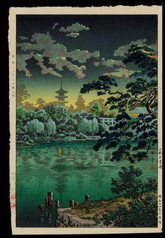 Ueno Shinobazu Pond, 1940.  Tsuchiya Koitsu.
