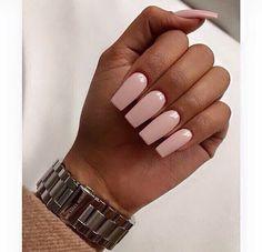 Jan 2020 - Nail Colors for Brown Skin - Nail Colors for Brown Skin , Khaki forest Green Nail Polish On Dark Skin Soft Pink Nails, Pink Nail Colors, Dark Nails, Gel Nails, Nail Polish, Pink Manicure, Brown Nails, Pedicure Nails, Square Acrylic Nails