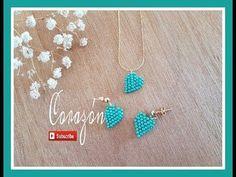 Como hacer un corazón de perlitas de hama beads, abalorios, chaquiras e hilos scoubidou Seed Bead Earrings, Diy Earrings, Beading Tutorials, Beading Patterns, Beaded Rings, Beaded Jewelry, Homemade Jewelry, Heart Jewelry, Bead Art