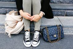 Acne scarf x Converse x Chanel
