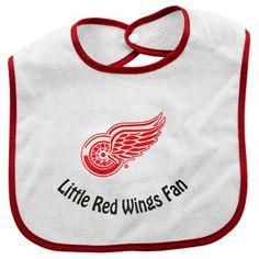McArthur Detroit Red Wings Infant Little Fan Bib - White