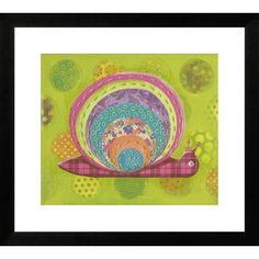 "Swirly Snail by Nessa Dee Framed Paper Print Art Size: 22"" H x 24"" W $135.99 by Wayfair"