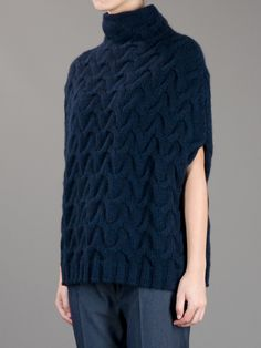 Neri Firenze Thick Cable Knit Jumper | Farfetch.com | love the shape
