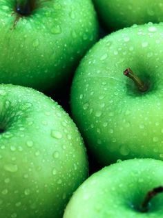 I remember going apple raiding in the dark with my friends. Nothing better than fresh green apples with salt! Mint Green Aesthetic, Rainbow Aesthetic, Aesthetic Colors, Ed Wallpaper, Green Wallpaper, Color Verde Claro, Green Pictures, Fotografia Macro, Mean Green