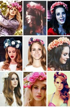 Lana Del Rey and flower crowns (pt.3) #LDR