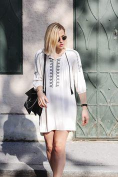 tifmys – Chloé Faye bag, Zara tunic dress & Ray Ban Round Metal sunnies.