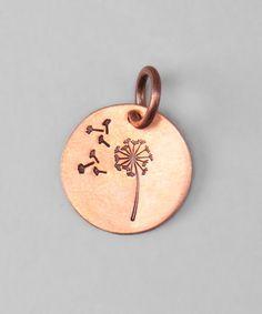 Look at this #zulilyfind! Copper Dandelion Wish Charm by Five Little Birds by Littlefield Lane #zulilyfinds