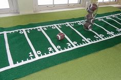 Cute DIY table runner for our football parties