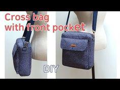 앞포켓이 있는 크로스백/사각 크로스백 만들기/가방 만들기/Make a Rectangle Cross Bag/패턴 공유합니다 - YouTube Pencil Case Tutorial, Diy Bags Tutorial, Doll Videos, Diy Bags Purses, Handbag Patterns, Recycled Denim, Cloth Bags, Small Bags, Handmade Bags