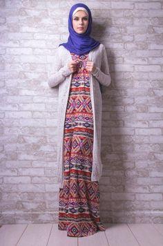 long cardigan hijab