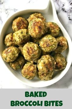 Healthy Meals For Kids Baked Broccoli Bites, a healthy snack for back-to-school kids, but also great for grown-ups too. A delicious vegetarian appetizer that is low in calories. Healthy School Snacks, Healthy Toddler Snacks, Healthy Meal Prep, Healthy Snacks For Kids, Healthy Foods To Eat, Healthy Baking, Kid Snacks, Vegetarian Appetizers, Vegetarian Recipes