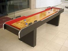 Build A Shuffleboard Table Dimensions Blueprints And