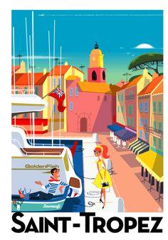 SAINT-TROPEZ -         Saint-Tropez Poster - Image in Action - Richard Zielenkiewicz.