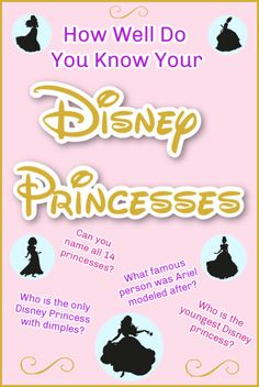 Disney Princess List - Do you know your Disney princess trivia? See if you can name all the princesses and learn some fun Disney princess facts too! Disney Princess Facts, Princess Games, Princess Party, Disney Vacation Club, Disney Trips, Disney Travel, Disney Names, All The Princesses, Disney College Program