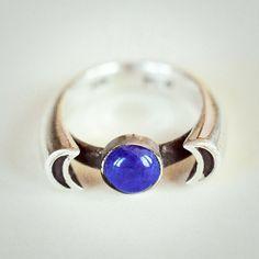Lapis Lazuli Luna ring by Pamela Love