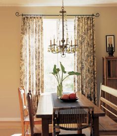 These drapes are a good option to allow some light in and still have privacy.