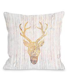 Reindeer Head Throw Pillow