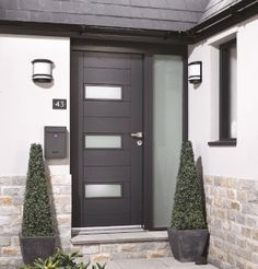 Image result for external doors House Front Door, External Doors, Front Elevation, House Extensions, Tall Cabinet Storage, House Plans, Porch, Garage Doors, Outdoor Decor