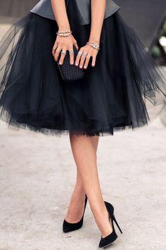 tulle skirt & heels! so pretty & fun!