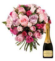 Bouquet et champagne