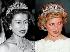 THE CAMBRIDGE LOVER'S KNOT TIARA  Queen Elizabeth gave this pearl-and-diamond tiara (seen on her in 1958) to Diana as a wedding gift, but experts tell PEOPLE they'd be surprised if the tiara will pass down to Kate.