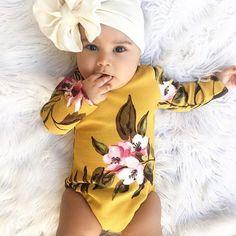 3.95 GBP - Newborn Infant Kids Baby Girl Floral Romper Jumpsuit Playsuit Bodysuit Outfit #ebay #Home & Garden