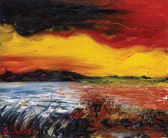 Atardecer en la laguna, Sérvulo Gutiérrez (1914-1961)