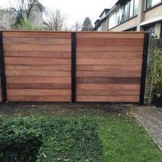 Patio Fence, Backyard Fences, Backyard Landscaping, Wood Fence Design, Deck Railing Design, Landscape Design, Garden Design, House Design, Vibeke Design